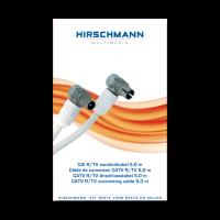 Hirschmann Koka799 Coaxkabel 5 meter met coax connector male en female